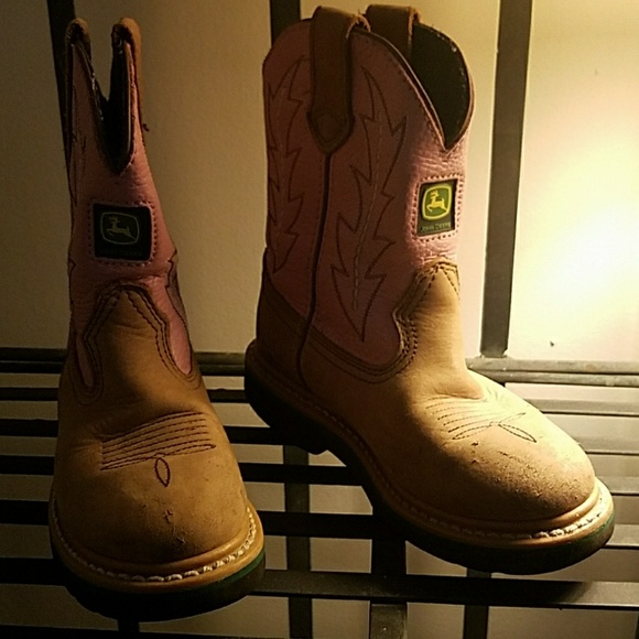 31bcd5e32b7 Little girls John Deere boots